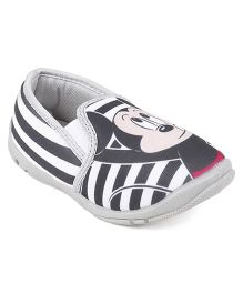 Disney Mickey Mouse Casual Slip On Shoes - White Grey