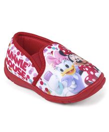 Disney Minnie & Daisy Slip On Casual Shoes - Red