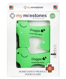 My Milestones Doggie Shaped Door Guard  Green - 2 Pieces