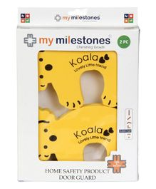My Milestones Koala Shaped Door Guard  Yellow - 2 Pieces