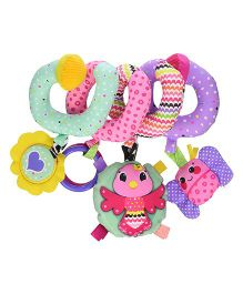Infantino Spiral Activity Clip On Toy Multi Color - 10 inches
