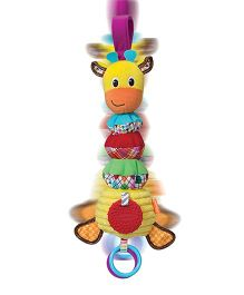 Infantino Hug And Tug Musical Giraffe Clip On Accessory Multi Color - 11 inches