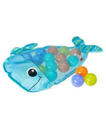 Infantino Ball Belly Stick & Store Whale Bath Toys - Pack of 20
