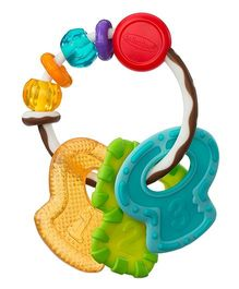 Infantino Cool & Chew Textured Teether Keys - Multicolour