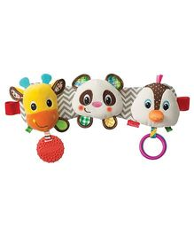 Infantino Stretch And Play Musical Travel Trio Clip On Accessory White - 15 cm