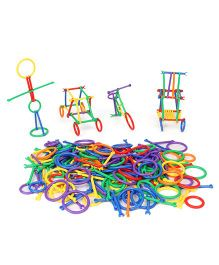 Imagician Playthings Rings & Sticks Learn Connect & Build - Multi Colour