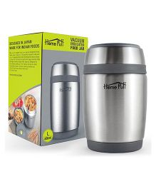 Home Puff Double Wall Vacuum Insulated Stainless Steel Food Jar Silver - 480 ml