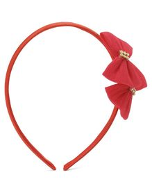 Babyhug Hair Band Bow Applique - Red