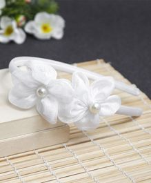 Babyhug Hair Band Floral Applique - White