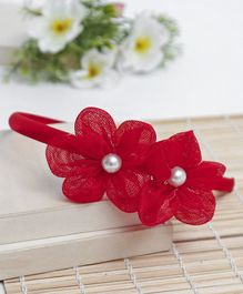 Babyhug Hair Band Floral Applique - Red