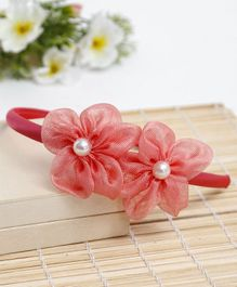 Babyhug Hair Band Floral Applique - Peach