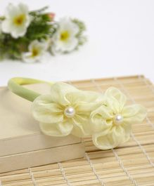 Babyhug Hair Band Floral Applique - Light Yellow