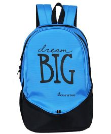Polestar School Bag Dream Big Print Blue - Height 18.8 inches