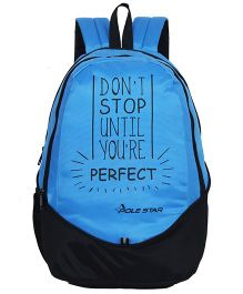 Polestar School Bag Perfect Print Blue - Height 18 inches