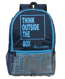 Polestar Back Pack Quote Print Grey Blue - 18 inches