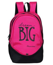 Polestar School Bag Dream Big Print Pink - Height 18.8 inches