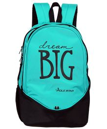 Polestar School Bag Dream Big Print Turquoise - Height 18.8 inches
