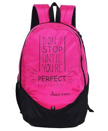 Polestar School Bag Perfect Print Pink - Height 18 inches