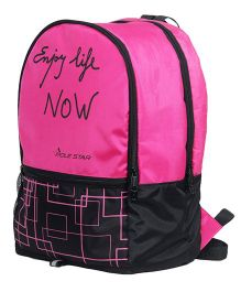 Polestar Back Pack Enjoy Life Print Pink - 18 inches