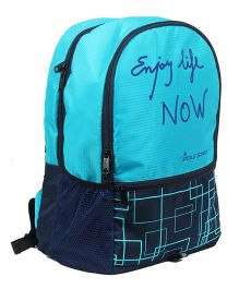 Polestar Back Pack Enjoy Life Print Blue - 18 inches