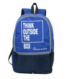 Polestar Back Pack Quote Print Navy Blue - 18 inches