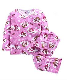 M'Andy Teddy Print Nightwear Set - Pink