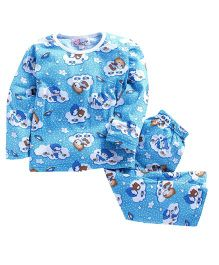 M'Andy Teddy Print Nightwear Set - Blue