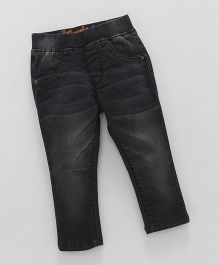 Vitamins Full Length Denim Jeggings - Black
