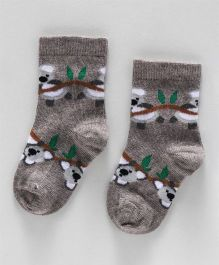 Mustang Ankle Length Socks Koala Design - Grey