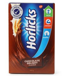 Horlicks Chocolate Flavoured Refill Pack With Free Super Hero Card - 500 gm