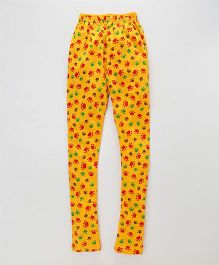 Earth Conscious Full Printed Leggings - Yellow
