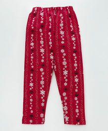 Earth Conscious Full Printed Leggings - Red