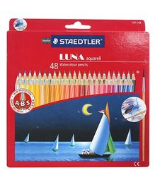 Staedtler - 48 Colour Pencils With Spiral Lines