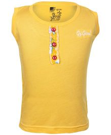 Gini & Jony - Yellow French Sleeves Top