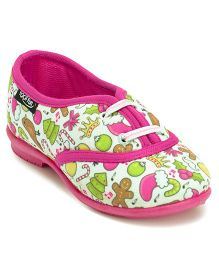 Footfun Casual Shoes Multidesign - White Pink