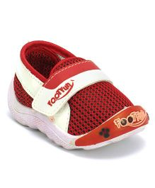 Footfun Casual Shoes With Velcro Closure - Red White