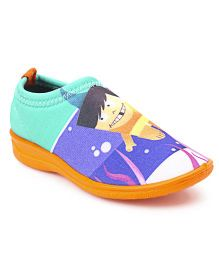 Footfun Slip On Casual Shoes - Blue Orange