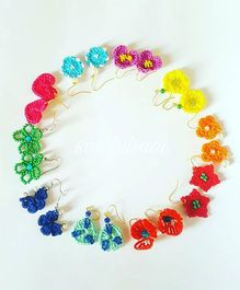 Soulfulsaai Set Of 10 Earrings - Multicolor