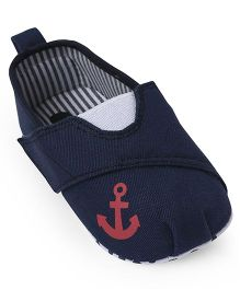 Cute Walk by Babyhug Booties Anchor Patch - Navy