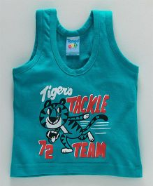Tango Sleeveless Vest Tiger Print - Blue