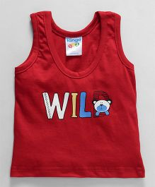 Tango Sleeveless Vest Wild Print - Red