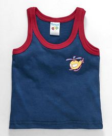 Tango Sleeveless Vest Helicopter Print - Navy