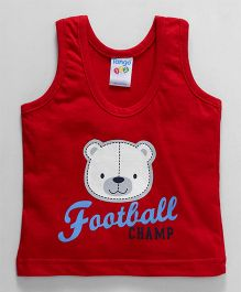 Tango Sleeveless Vest Football Champ Print - Red