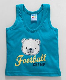 Tango Sleeveless Vest Football Champ Print - Blue