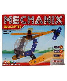 Zephyr Mechanix 2 Models Helicopter Starter Series Blue - 45 pieces