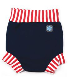 Splash About Striped Border Shorts For Swimming - Navy & Red