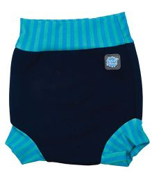Splash About Striped Border Shorts For Swimming - Navy Blue