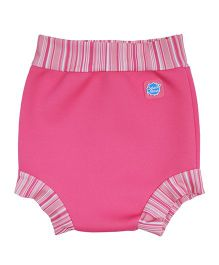 Splash About Striped Border Shorts For Swimming - Pink