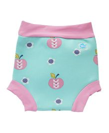 Splash About Apple Print Shorts For Swimming - Blue