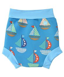 Splash About Boat Print Shorts For Swimming - Blue